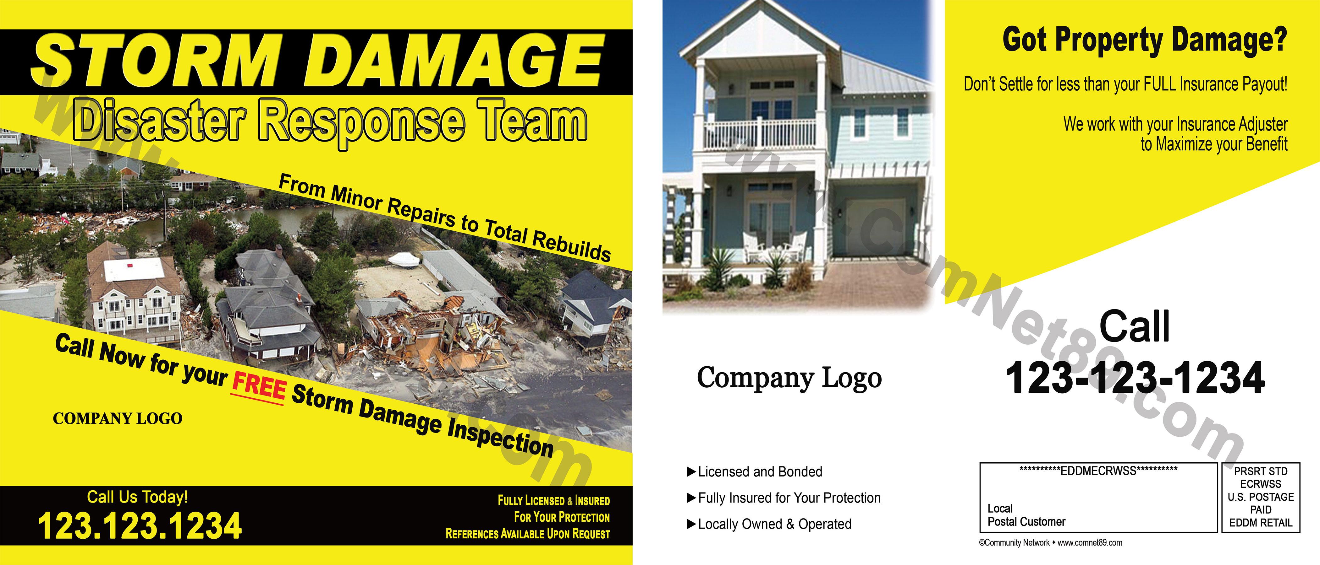Storm Damage Postcard