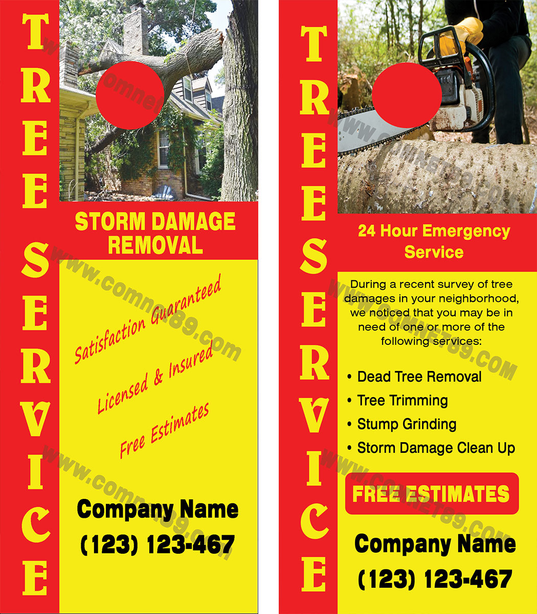 Storm Damage Door Hanger